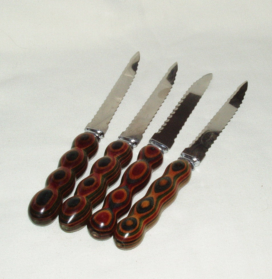 Grapefruit Knife: Grapefruit Knife Set 4 Dymondwood Handle By Wrightmade On Etsy