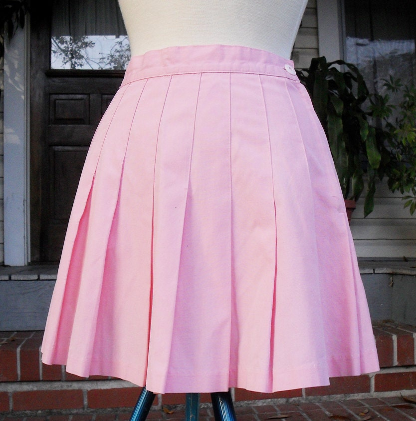 tennis pleated mini skirt in pastel pink by kathrynebordeaux