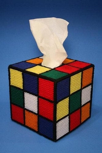 Rubiks cube tissue cover plus bonus