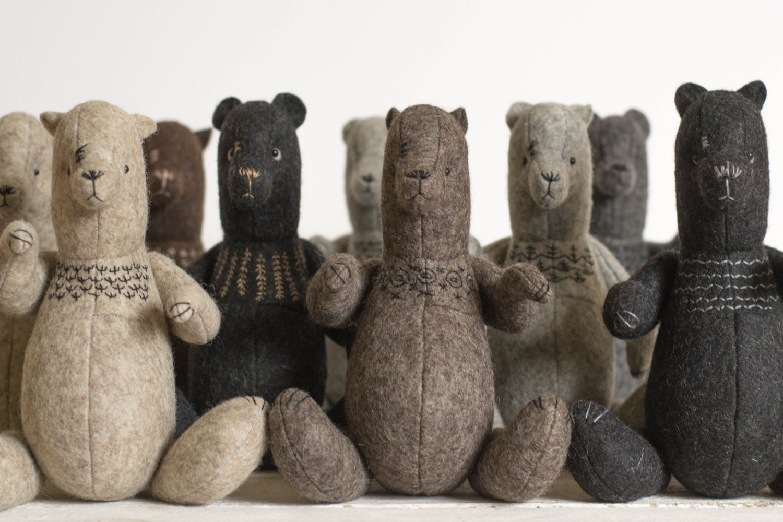 Wholesale Soft Toys - Set of 10 Different Stuffed Bears - ForestMisha - Stuffed Animals - Artist Bears - Felted Teddy Bears - annapavlovna