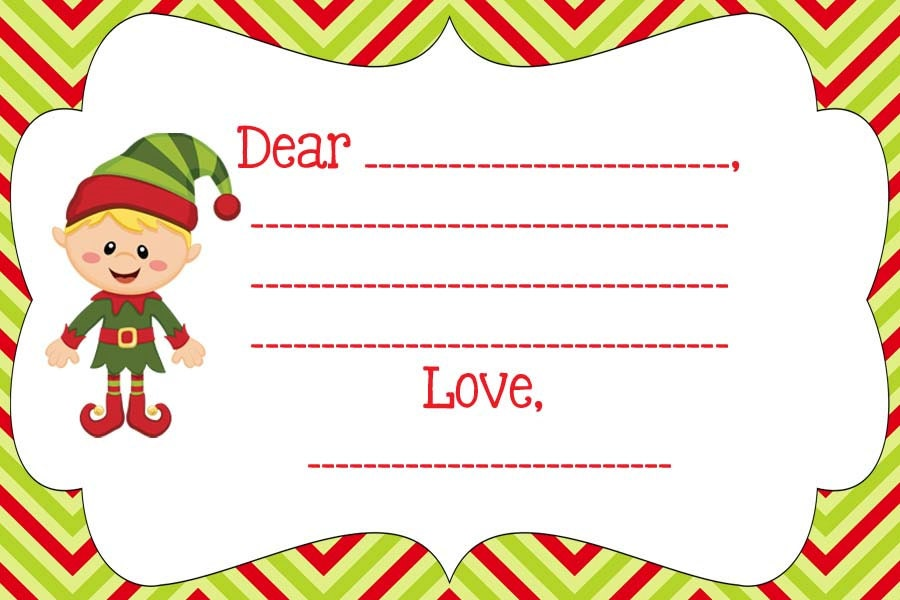 Blank note from your Elf on the Shelf- Personalize- PDF Elf on the ...