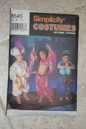 Simplicity Pattern 9919 Child's Disney Princess Jasmine Ariel