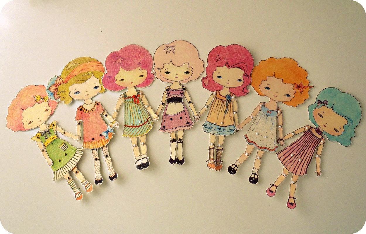Кукла из картона своими руками 50