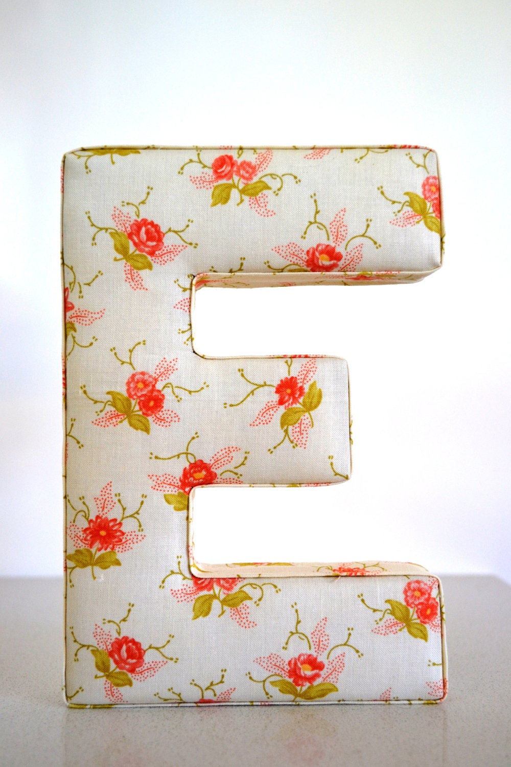Fabric Letter Wall Hanging Letter E In Shabby By