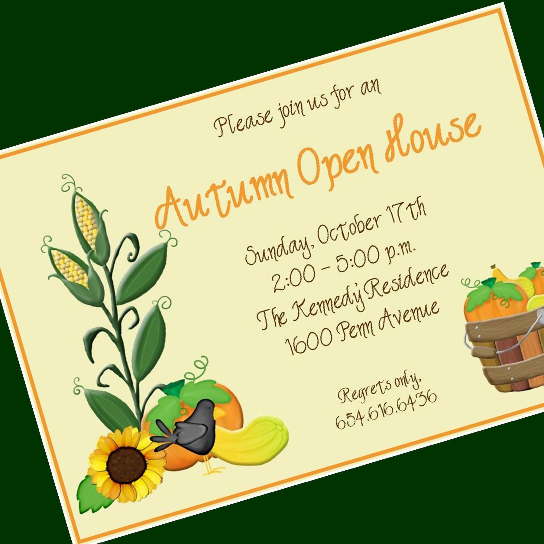 fall open house invitation custom wording 12 by cardsbycarolyn