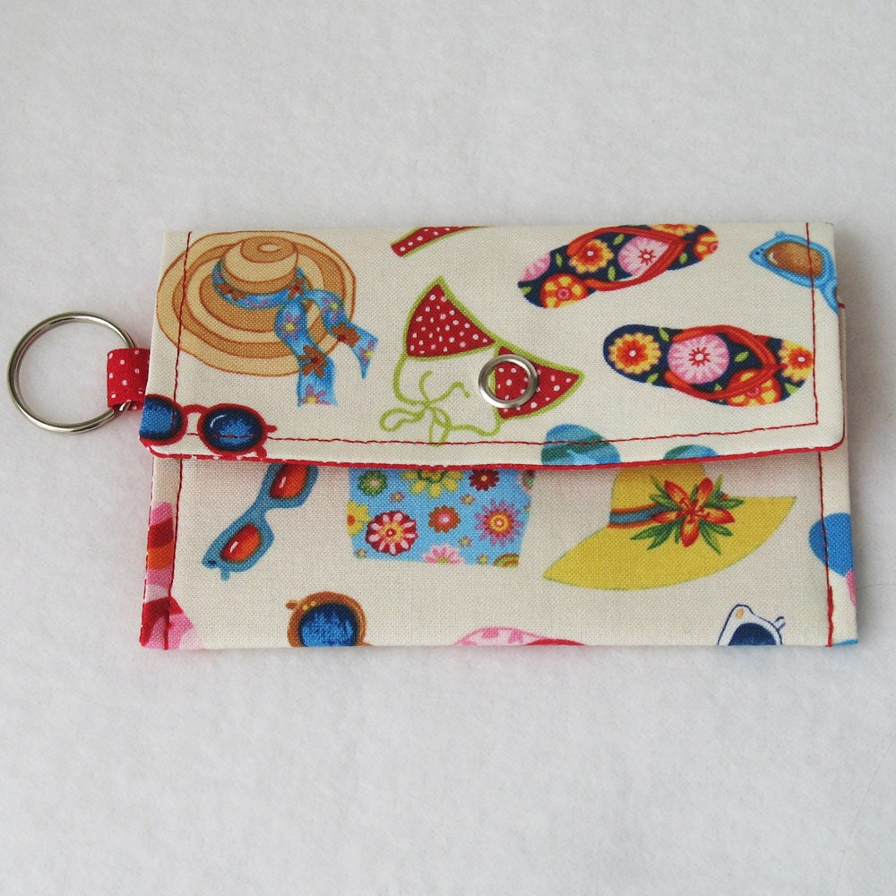 Mini One-Snap Wallet - Summer Things