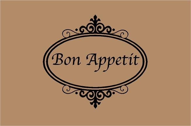 Bon Appetit 20x18 Kitchen Sign Vinyl Wall By