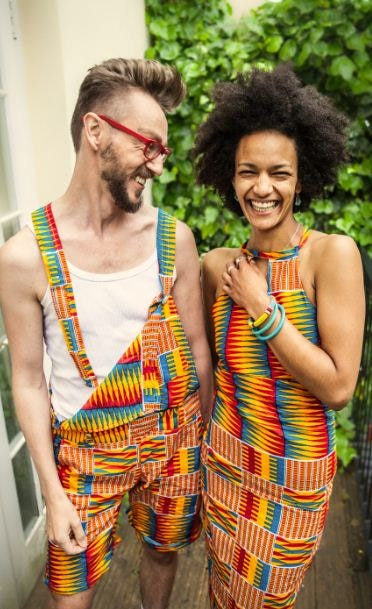 Unisex Dungarees African Print