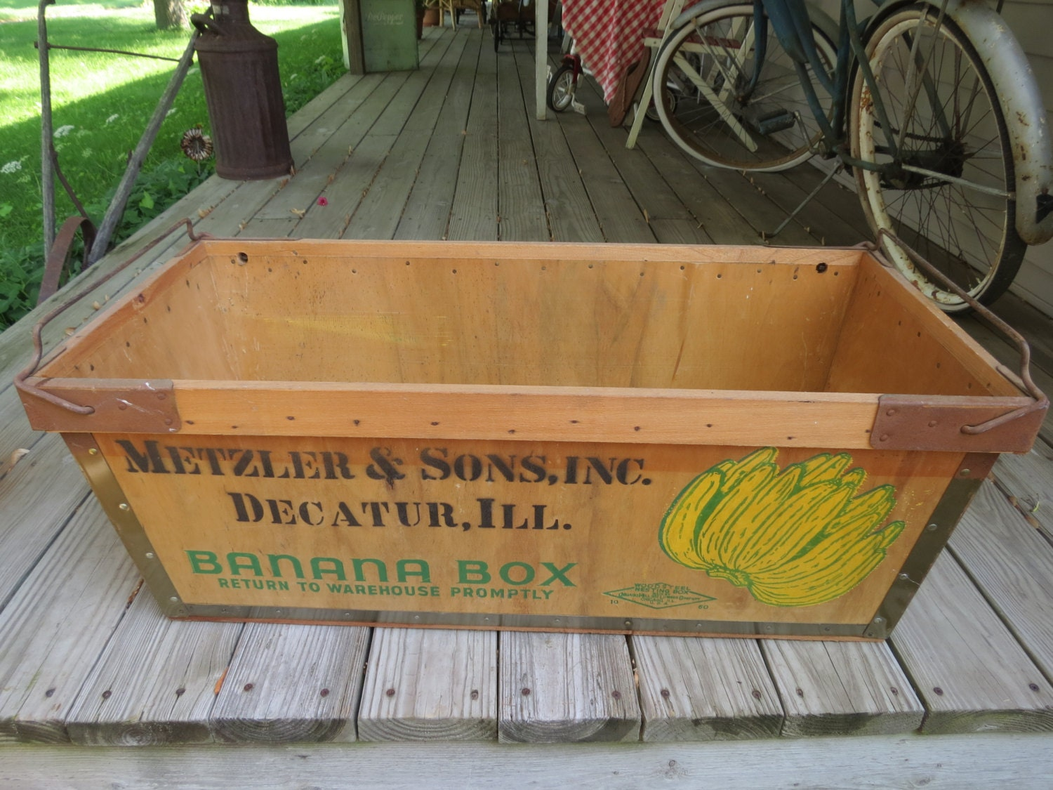 Vintage Wooden Banana Box Crate By Thevrose On Etsy