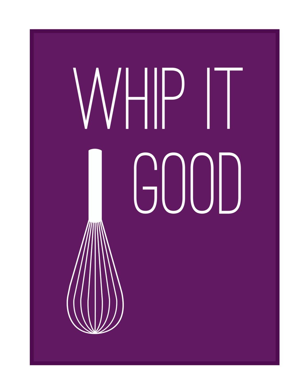 Whip It Good Kitchen Print