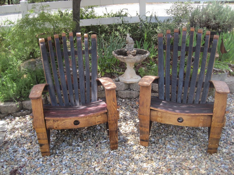 Wine Barrel Adirondack Chair By Barreldecor On Etsy