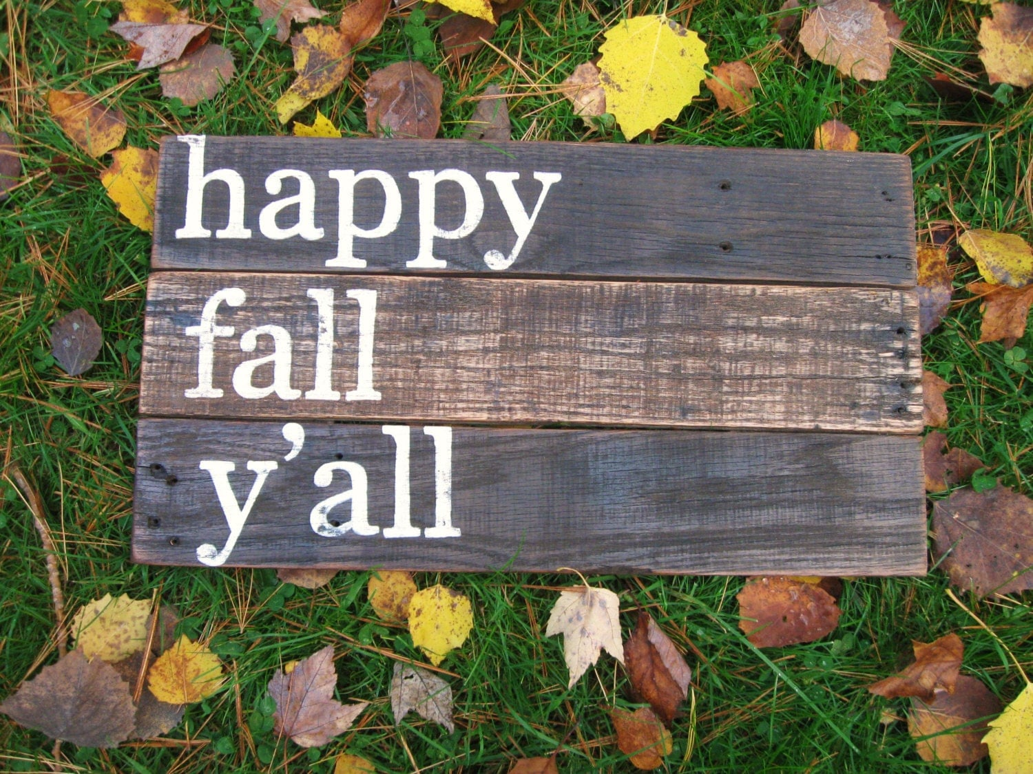 Rustic Wood Sign Fall Home Decor