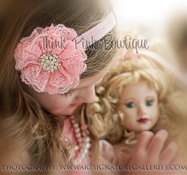 baby headband newborn headband beautiful lace by thinkpinkbows baby headband newborn headband beautiful lace by thinkpinkbows