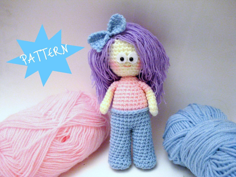 Amigurumi Girl Tutorial : Crochet Pattern Amigurumi Doll Pattern Amigurumi Girl by ...