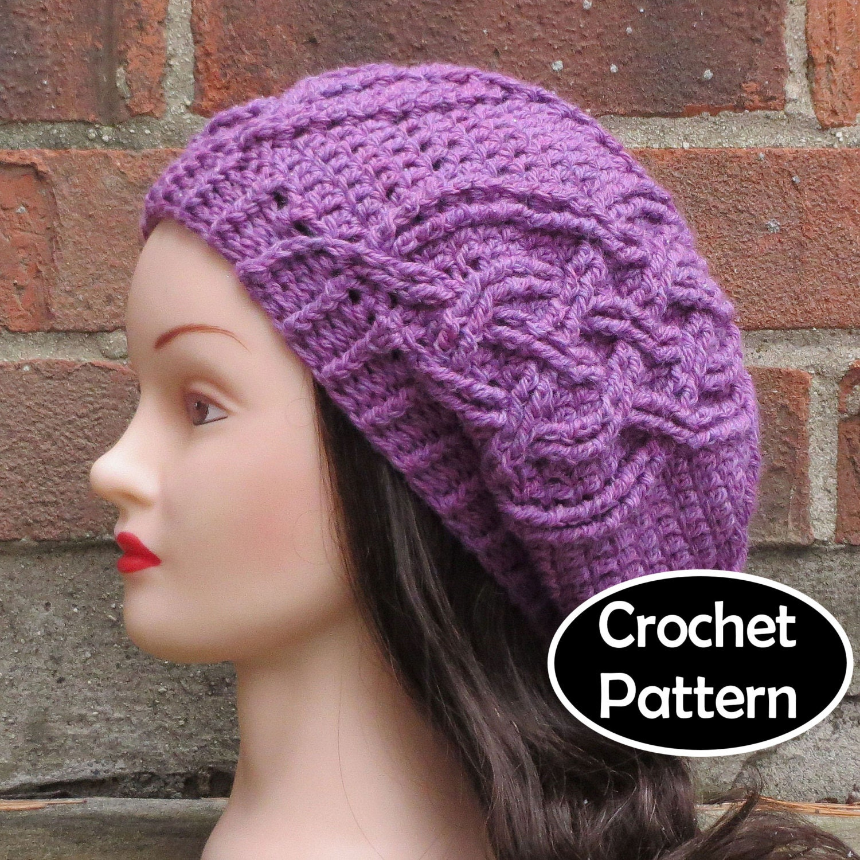 How to wear slouchy crochet beret