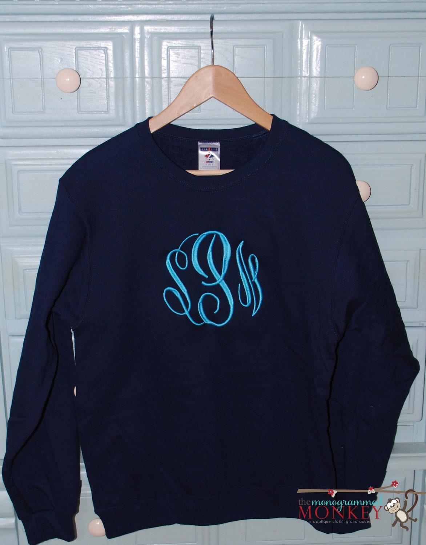 Personalized Monogrammed Sweatshirt Custom by ...