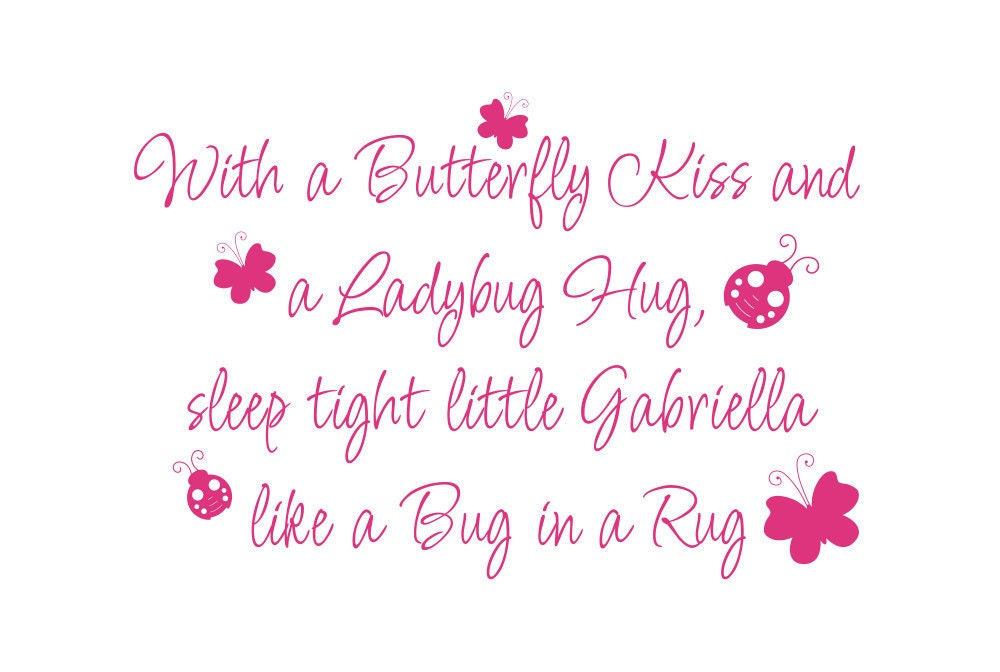 Baby girl wall decals quotes