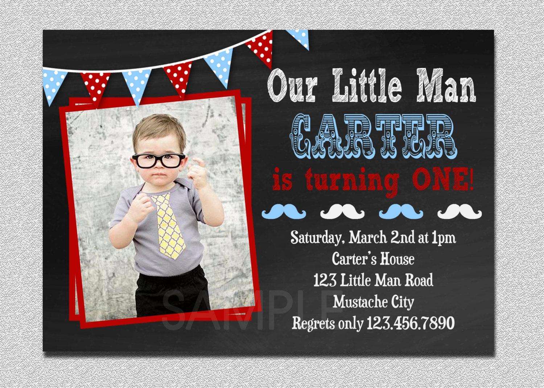birthday invitation little man mustache 1st birthday party invitation