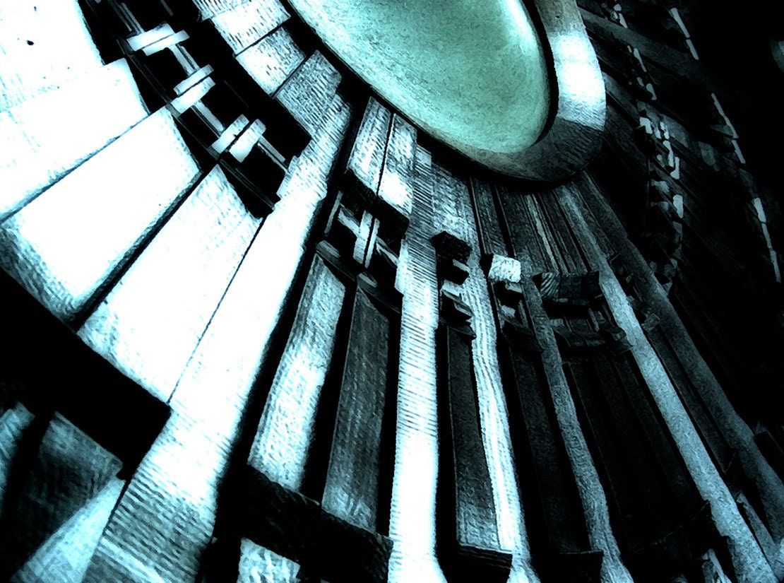The Old Gods and the New - 8 x 10  Print - Surreal Light- Abstract Church Door - Architectural Design - MyAntarctica