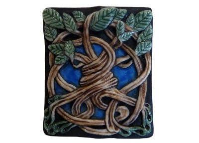 """Porcelain Tile Bead """"World Tree"""" by Laura Mears - BeyondBeadsGallery"""