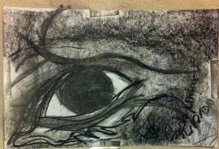 Mine Eye Charcoal Print