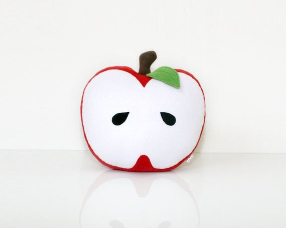 Red Apple Pillow (Forest) - Nursery Decor - WinterPetals