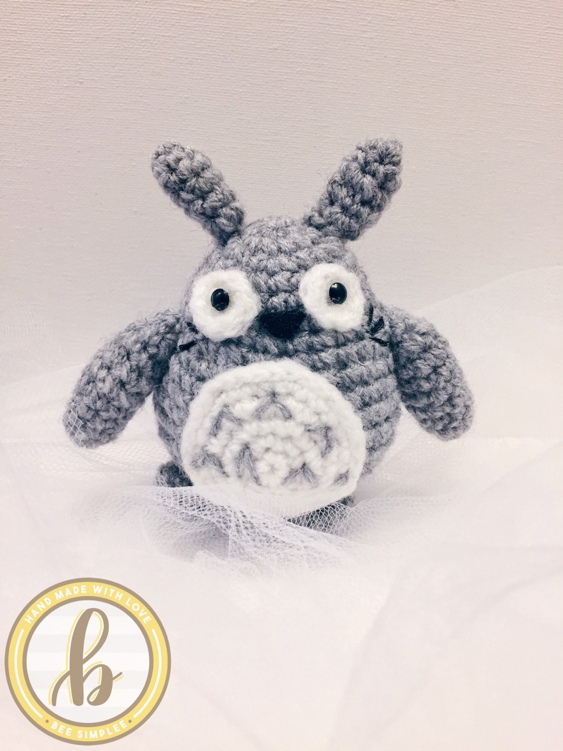 My Neighbor Totoro   Decocration Keychain Charm   Handmade Cute Amigurumi Crochet doll  Anime Lover Gift for her  Stroller Mobile Toy