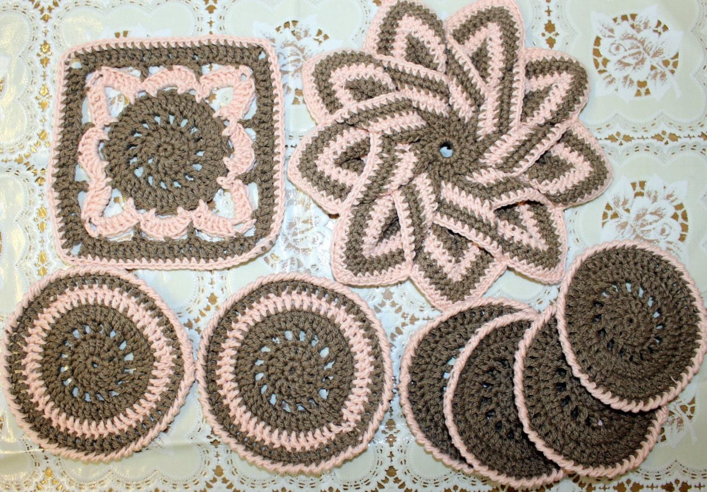 Crochet kitchen table set crochet star pot holder and coasters kitchen decor cotton friendly potholder crochet coasters heat mat