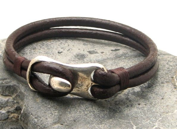 free shipping s bracelet leather brown leather by