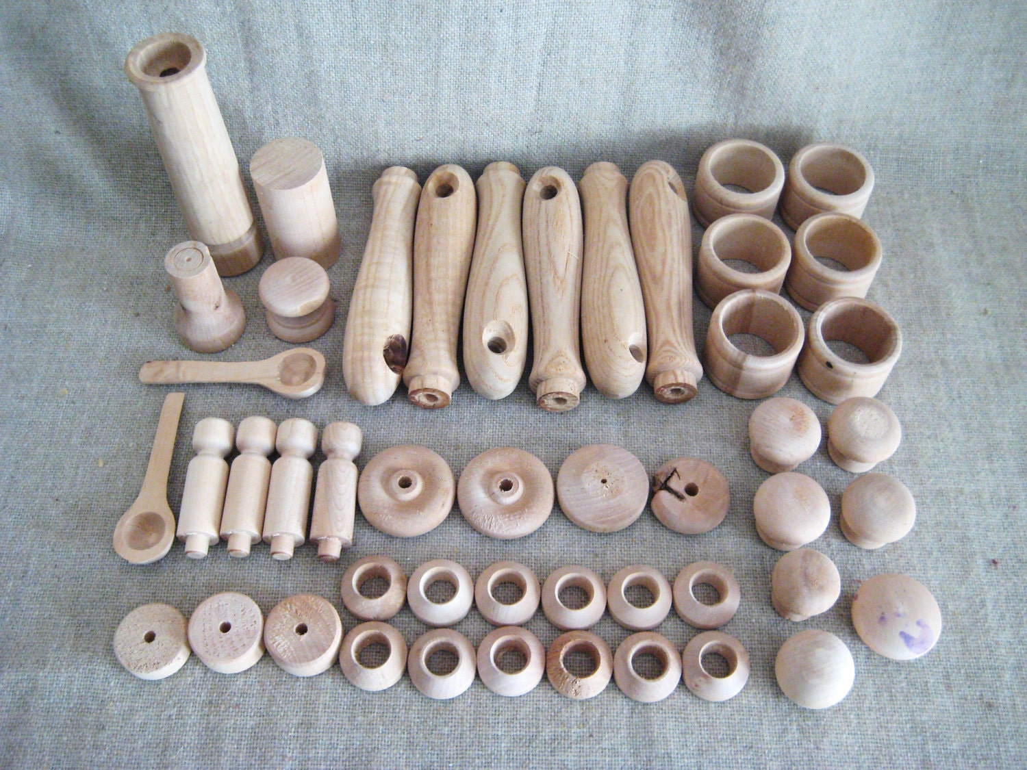 Pieces assorted craft wood turnings by dewdropdaisies