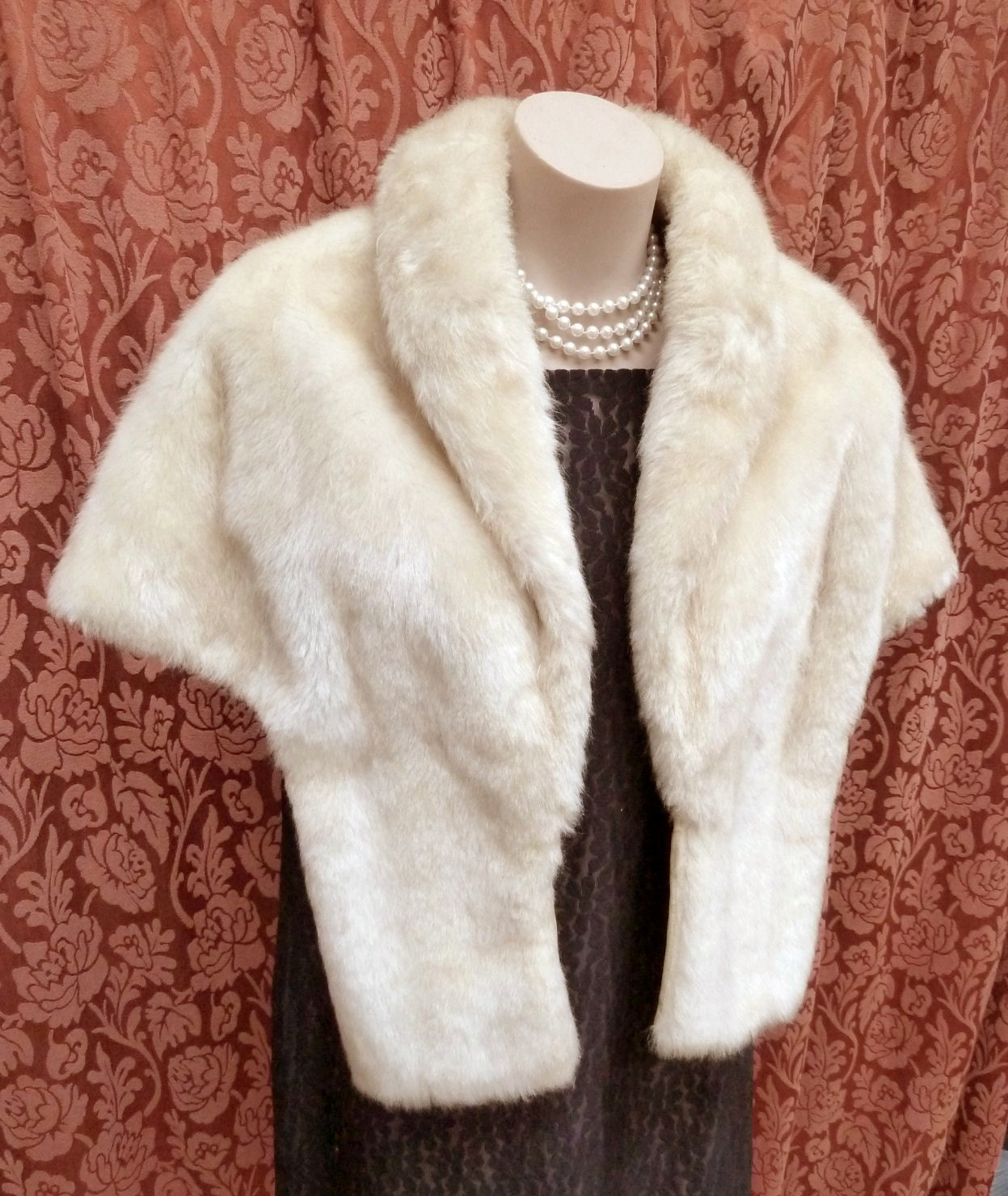 Vintage Polar Bear Faux Fur Stole By Franciedress On Etsy