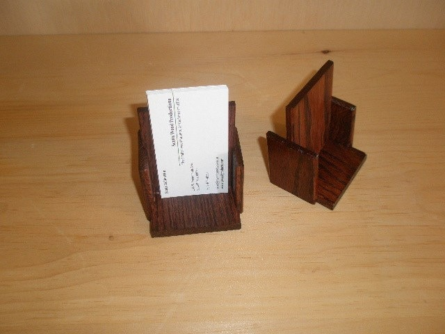 oak vertical business card holder mahogany by swoodproducts
