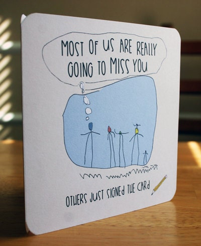 Items similar to Funny Goodbye Card, A DIY Printable Miss ...