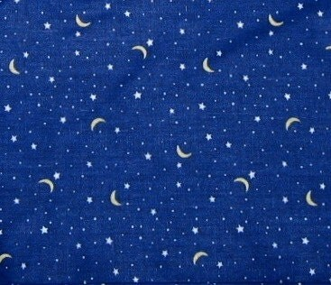 Popular items for moon and star print on etsy for Moon and stars fleece fabric