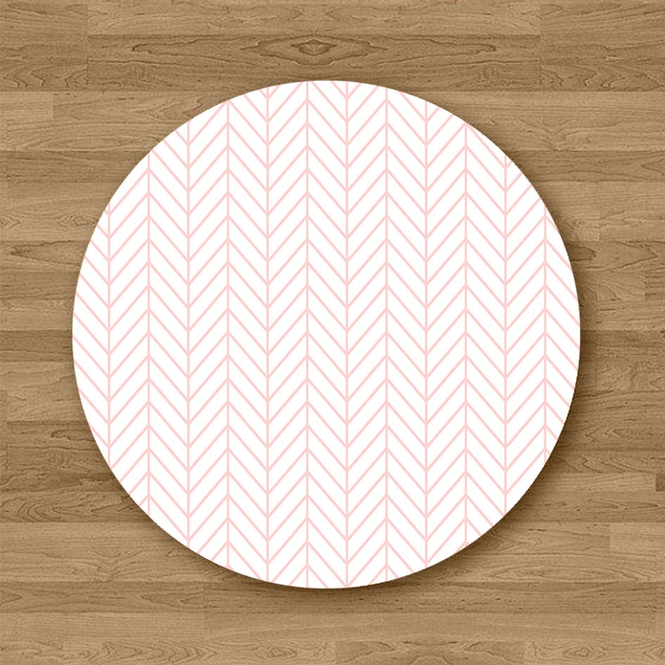Geometric Print Round Mouse Pad Office Desk Accessories Gift Hers