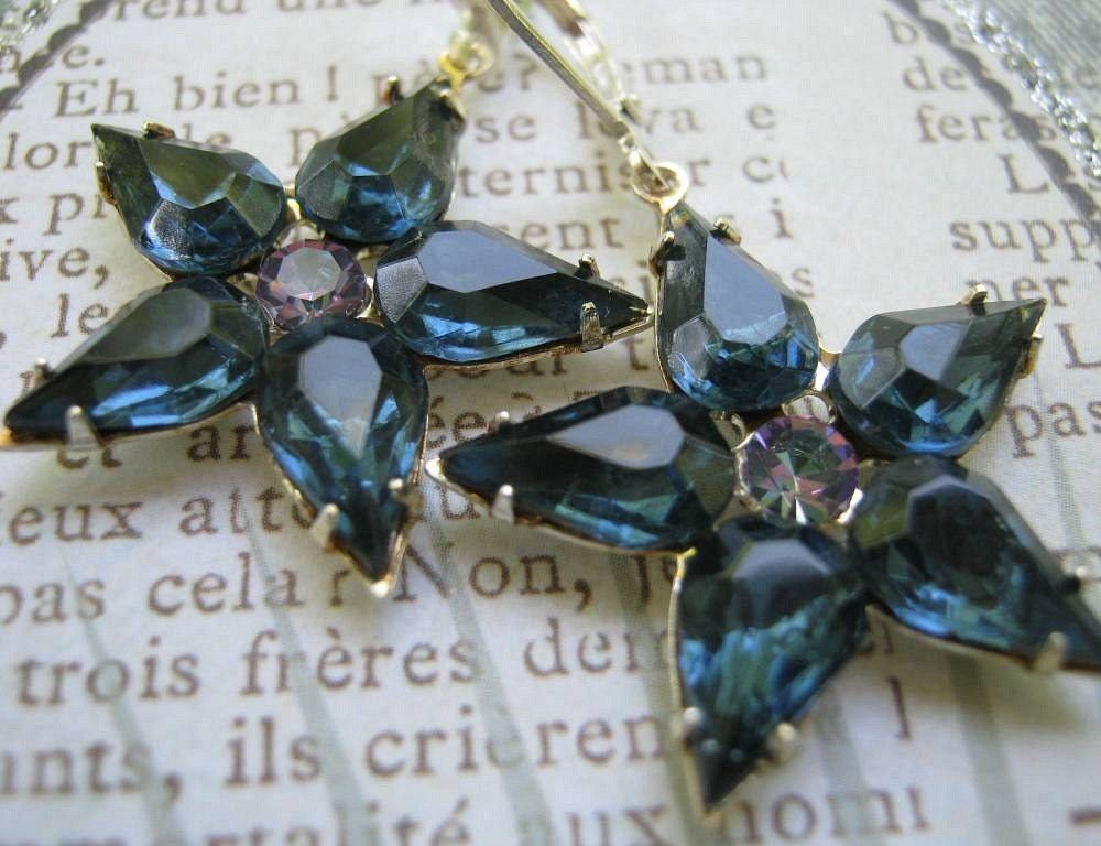 Starry Nights Vintage Rhinestone Earrings