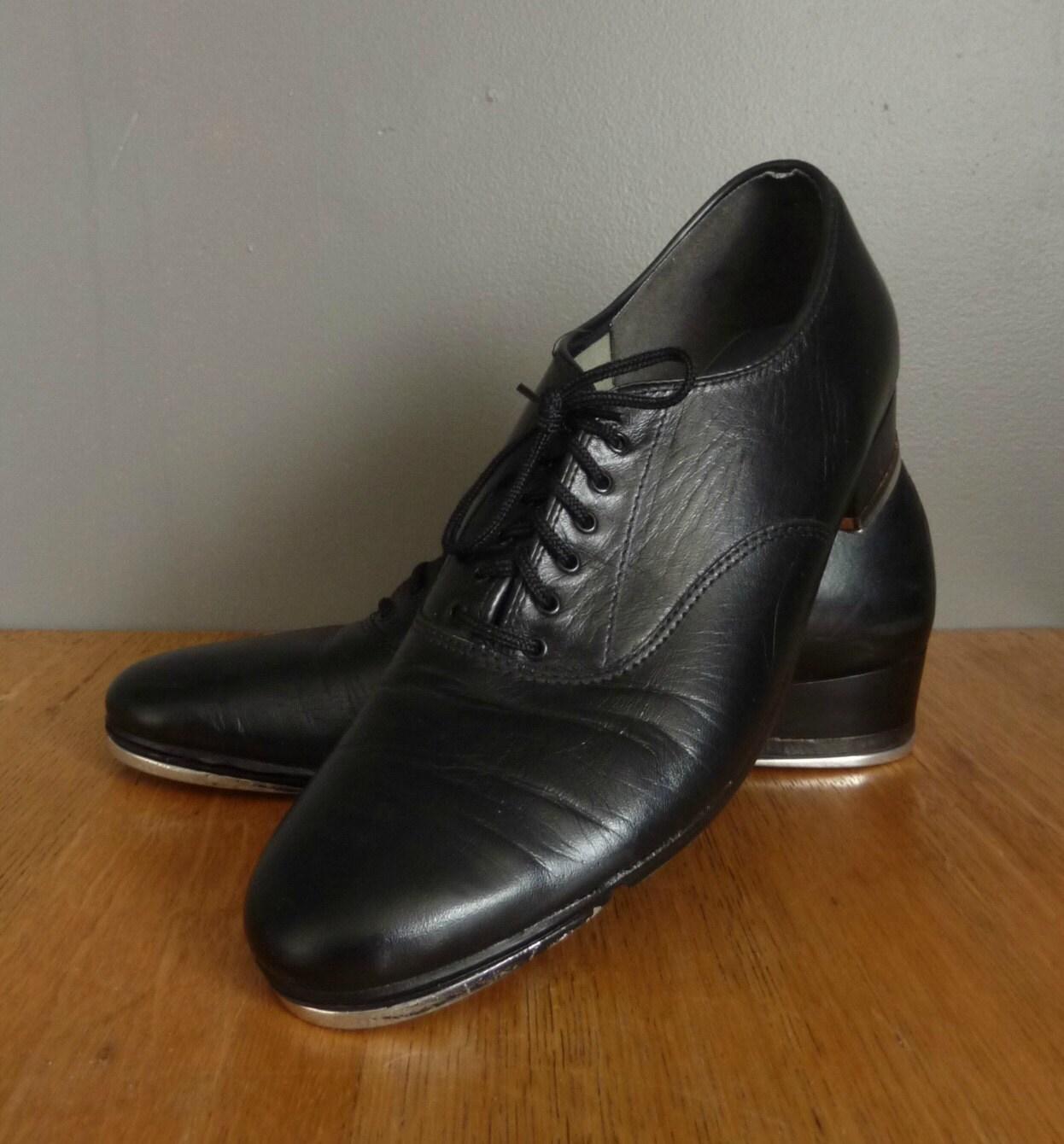 Vintage black capezio tap dancing shoes size women s 8 can you say