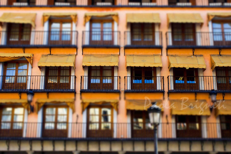 Window Photography, Travel Photography, Rustc, Toledo, Pink, Orange, Yellow, Spain, Dreamy, Wall Art, Europe - WorldPhotosByPaola