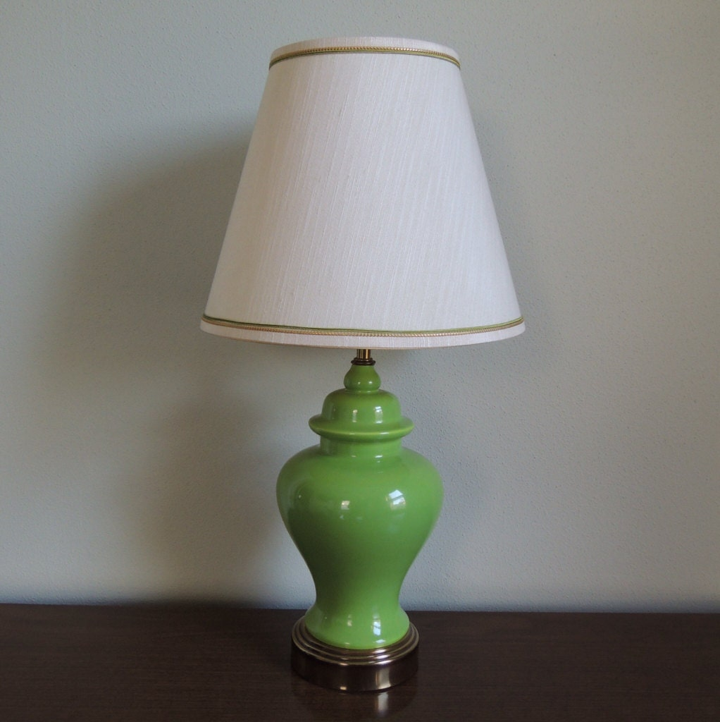 small vintage ginger jar table lamp by twoguysvintage on etsy. Black Bedroom Furniture Sets. Home Design Ideas