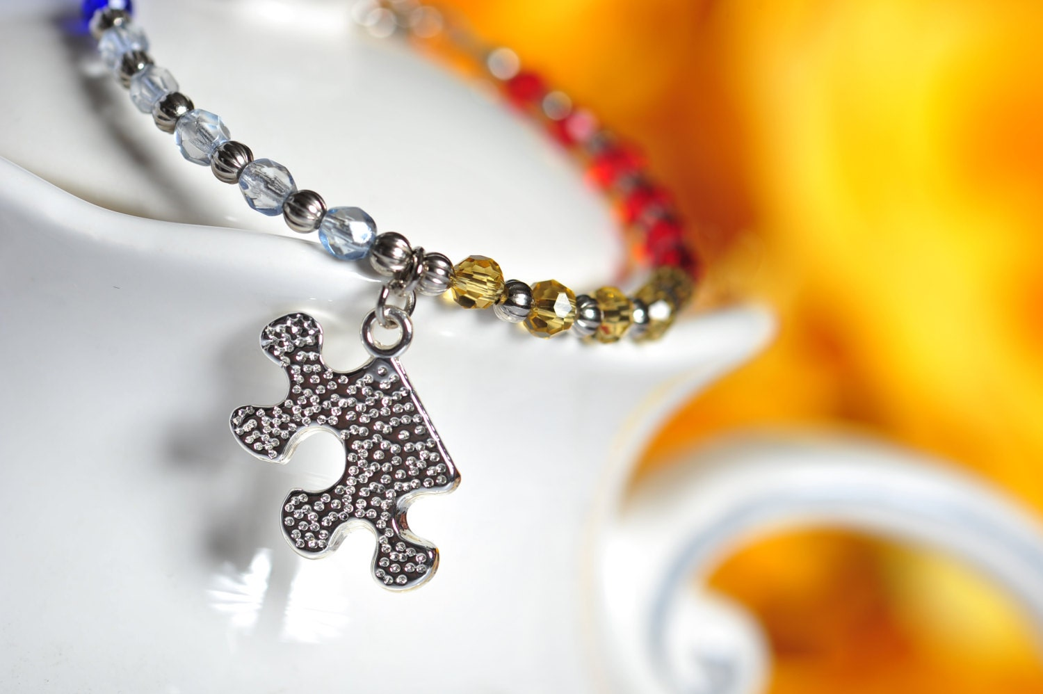 Celestial Crystals Autism Bracelet - Autism Color Crystals - Free Shipping - CreativeDesignsByEJ