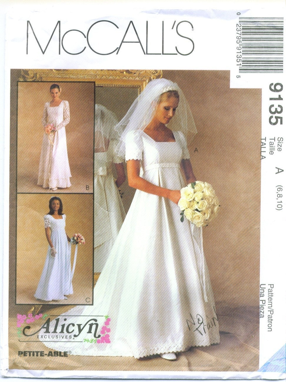 Items similar to mccall 39 s 9135 alicyn wedding dress sewing for Mccall wedding dress patterns