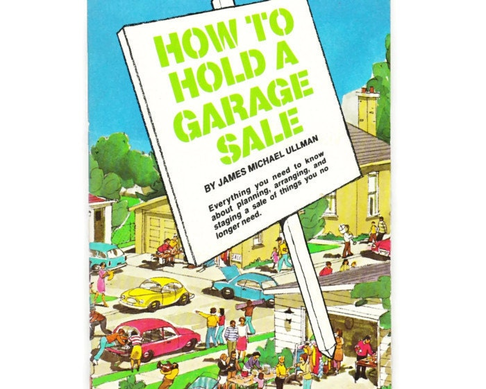 How To Hold a Garage Sale: Vintage Retro HowTo Book 1980s - PlantsNStuff
