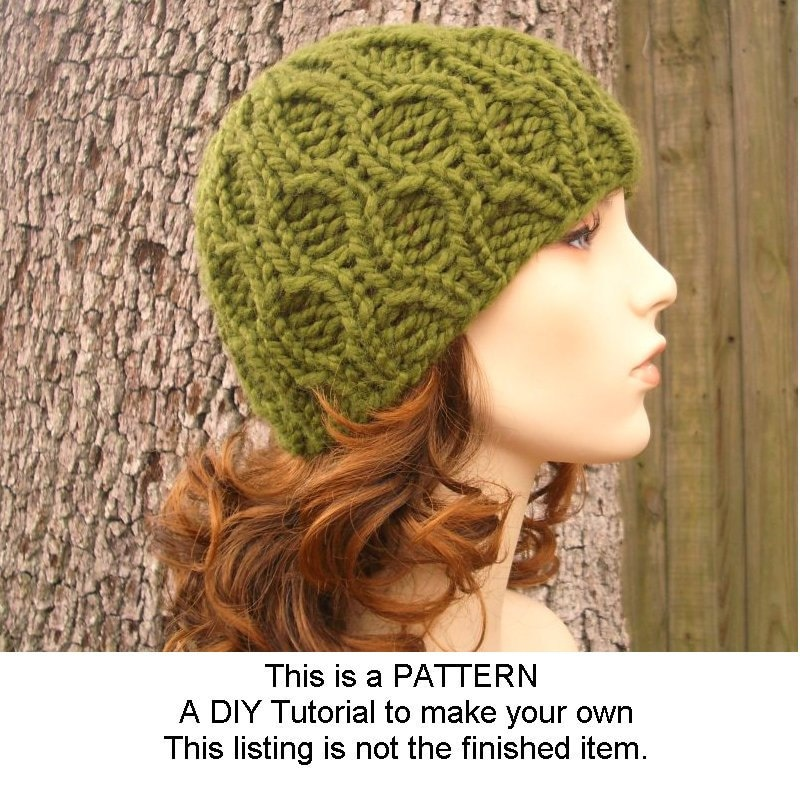 Knitting Pattern - Knit Hat Knitting Pattern PDF for The Amsterdam Beanie Hat With and Without Visor - Winter Accessories Winter Fashion