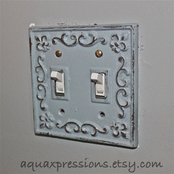 Items similar to decorative light switch plate light grey for Decor light switch