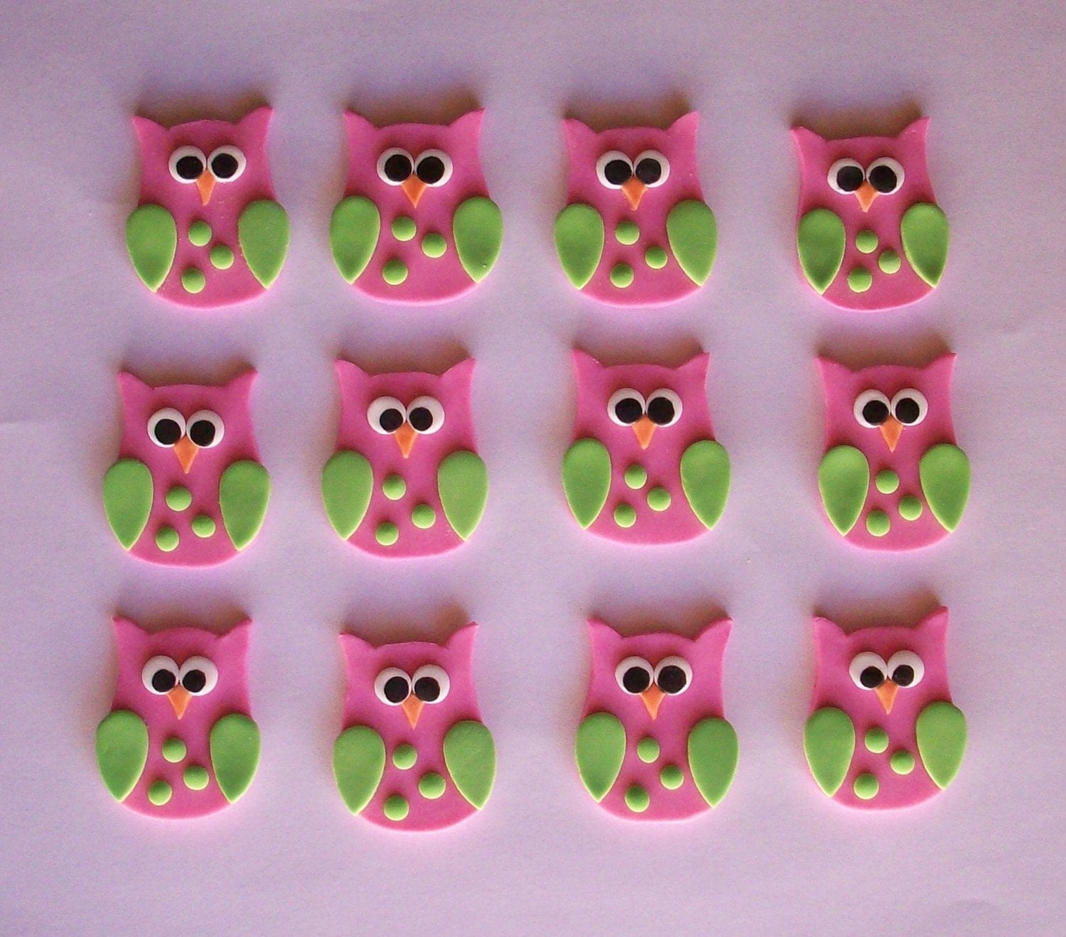 Cake Toppers In Fondant : Fondant Owls Cake/Cupcake Toppers One Dozen by SasssyPants