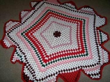 Crochet Pattern For Peppermint Afghan : Peppermint Stripes Granny Afghan Crochet Pattern by CrochetSal