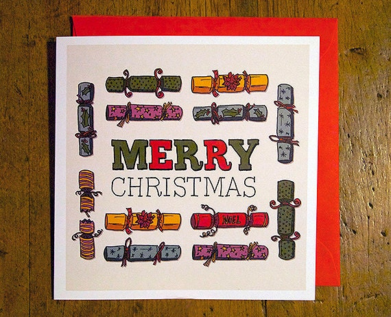 Merry Christmas - Eco Friendly Art Greeting Card - bocoloco