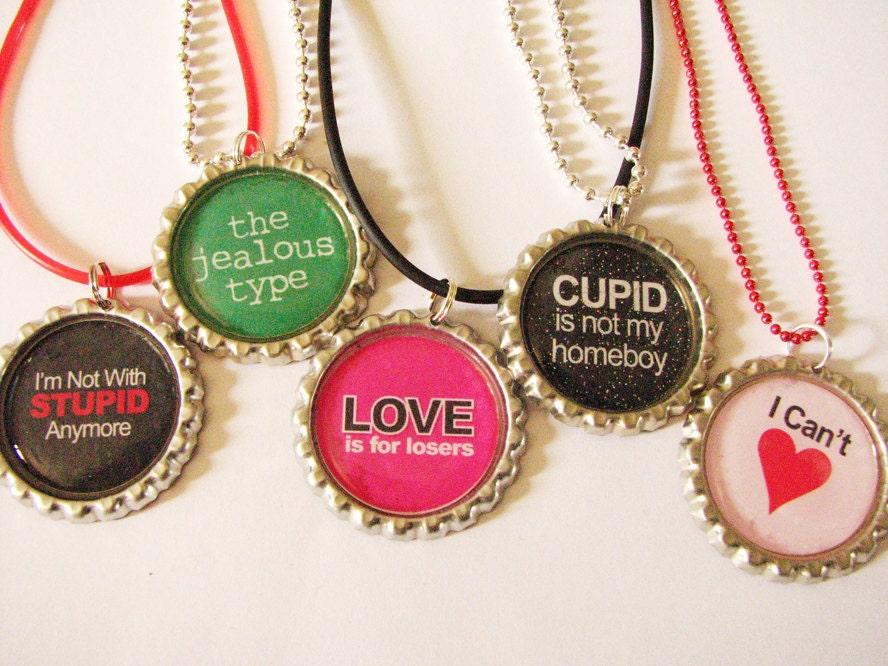 Bottlecap Pendant Necklaces - Jewels4Thought