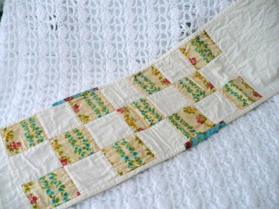 Striped Flower Tablerunner