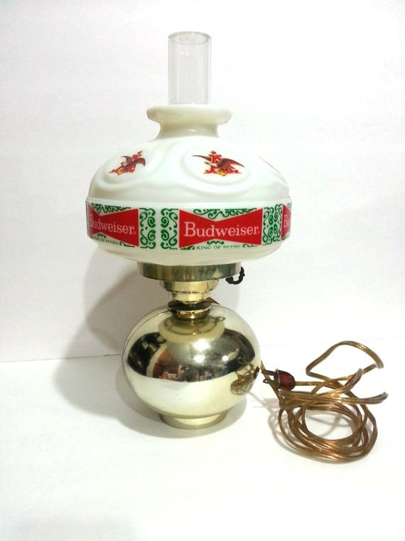 Budweiser Wall Lamp Vintage by DeAnnasAttic on Etsy